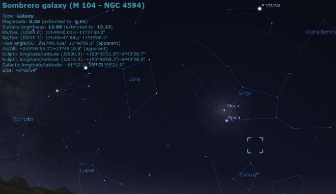 Stellarium chart