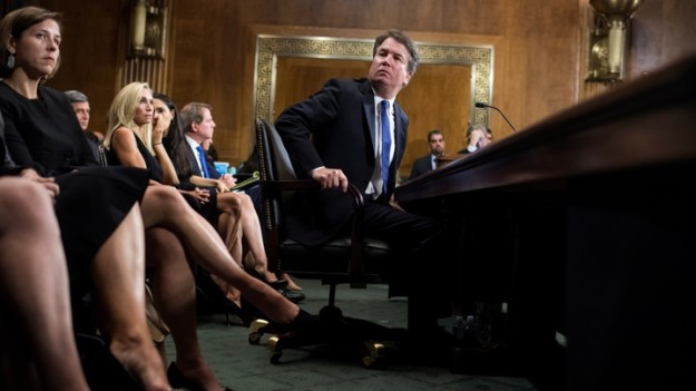Judge Brett Kavanaugh testifies during the Senate Judiciary Committee hearing on his nomination be an associate justice of the Supreme Court of the United States, on Capitol Hill in Washington