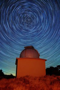 Star trails over Torrey House - Alpenglow Observatory